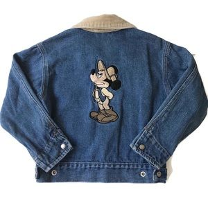 Disney Mickey Mouse Embroidered Jean Jacket